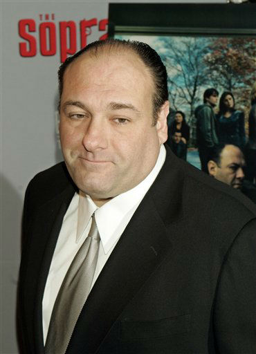 ** FILE ** James Gandolfini, who plays the role of Tony Soprano in the hit HBO television series &#34;The Sopranos&#34;, arrives to the world premiere of the sixth season in New York in this March 7, 2006. Fans of &#34;The Sopranos&#34; will have to wait a bit longer for the mob drama&#39;s final chapter.  Because of &#34;unexpected&#34; knee surgery for series star James Gandolfini, the concluding episodes that were expected to begin in January will be delayed about two months, HBO Chairman Chris Albrecht said. The surgery alone would have pushed the season start back just a few weeks, but that would have put &#34;The Sopranos&#34; up against the football playoffs and the Super Bowl, Albrecht told a television critics&#39; gathering Wednesday, July 13, 2006. &#40;AP Photo&#47;Stuart Ramson&#41; <span class=meta>(AP Photo&#47; STUART RAMSON)</span>