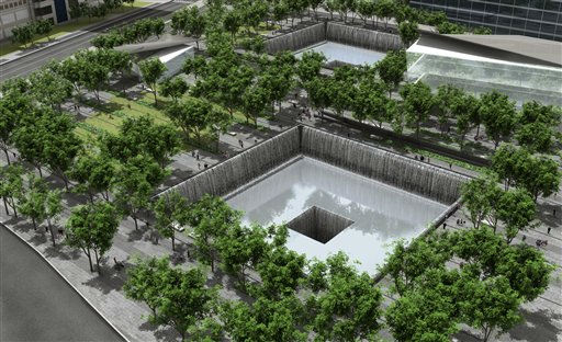 "<div class=""meta image-caption""><div class=""origin-logo origin-image ""><span></span></div><span class=""caption-text"">**FILE** This file image provided by the World Trade Center Memorial Foundation and the Lower Manhattan Development Corporation on March 11, 2006, shows an artist's rendering of the proposed World Trade Center Memorial. The memorial, who?s official name is now the National September 11 Memorial & Museum at the World Trade Center, is taking survivors' stories and artifacts from its planned museum on a national tour that begins in South Carolina on the eve of the terrorist attacks' sixth anniversary. (AP Photo/WTC Memorial Foundation, LMDC, File) (AP Photo/ Anonymous)</span></div>"