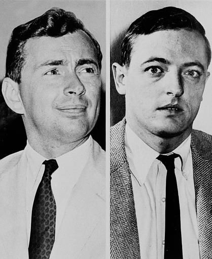 Authors Gore Vidal, left, and William F. Buckley, Jr., are seen in 1961.  &#40;AP Photo&#41; <span class=meta>(AP Photo&#47; XMB)</span>