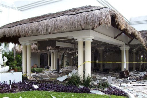 "<div class=""meta ""><span class=""caption-text "">Debris are seen scattered at the Grand Riviera Princess Hotel in Playa del Carmen, Quintana Roo state, Mexico, Sunday Nov. 14, 2010. A powerful explosion believed to have been caused by an accumulation of gas killed six people, including four Canadian tourists, and injured 15, according to Quintana Roo state Attorney General Francisco Alor. (AP Photo) (AP Photo/ Anonymous)</span></div>"