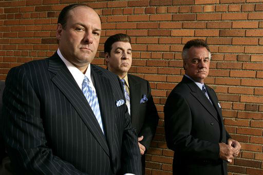"<div class=""meta image-caption""><div class=""origin-logo origin-image ""><span></span></div><span class=""caption-text"">FILE - This 2007 file photo originally supplied by HBO, shows James Gandolfini, left, Steven Van Zandt and Tony Sirico, right, members  of the cast of the HBO cable television mob drama ""The Sopranos."" HBO and the managers for Gandolfini say the actor died Wednesday, June 19, 2013, in Italy. He was 51. (AP Photo/HBO,Craig Blankenhorn) (AP Photo/ Craig Blankenhorn)</span></div>"