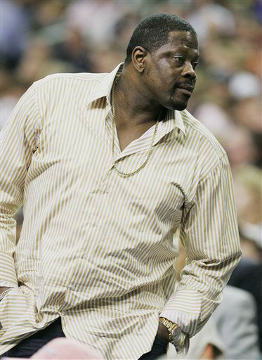 Former Georgetown and New York Knicks player Patrick Ewing watches the first half of a Final Four semifinal basketball game between Georgetown and Ohio State at the Georgia Dome in Atlanta, Saturday, March 31, 2007. Ewing&#39;s son, Patrick Ewing Jr. plays for Georgetown. &#40;AP Photo&#47;Eric Gay&#41; <span class=meta>(AP Photo&#47; Eric Gay)</span>