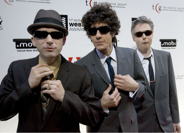 The Beastie Boys, from left to right, Adam &#34;Ad-Rock&#34; Horovitz, Michael &#34;Mike D&#34; Diamond, and Adam &#34;MCA&#34; Yauch, arrive to pickup a Webby Award, June 5, 2007 in New York. They join Madonna, heartland rocker John Mellencamp and premier dance acts Donna Summer and Chic among the nine nominees for the Rock and Roll Hall of Fame, who were announced Friday, Sept. 28, 2007. &#40;AP Photo&#47;Stephen Chernin&#41; <span class=meta>(AP Photo&#47; STEPHEN CHERNIN)</span>