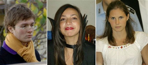 From left, of Italian student Raffaele Sollecito, slain 21-year-old British woman Meredith Kercher and her American roommate Amanda Knox. &#40;AP Photo&#47;files&#41; <span class=meta>(AP Photo&#47; Anonymous)</span>