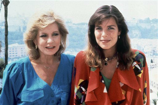 Barbara Walters, left, with Princess Caroline of Monaco shown in 1985.
