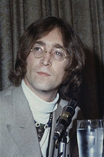 "<div class=""meta ""><span class=""caption-text "">Singer John Lennon shown at a news conference in this undated photo. (AP Photo) (AP Photo/ R3  RE. XJM)</span></div>"