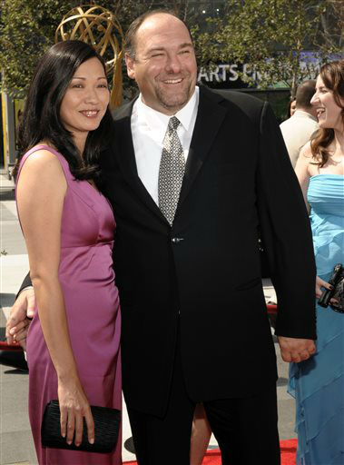 "<div class=""meta ""><span class=""caption-text "">FILE - This Sept. 13, 2008 file photo shows actor James Gandolfini and his wife Deborah Lin at the 2008 Primetime Creative Arts Emmy Awards in Los Angeles.  HBO and the managers for Gandolfini say the actor died Wednesday, June 19, 2013, in Italy. He was 51. (AP Photo/Chris Pizzello, file) (AP Photo/ Chris Pizzello)</span></div>"