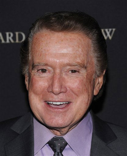 FILE - In this Jan. 14, 2009 file photo, Regis Philbin attends the 2008 National Board of Review of Motion Pictures awards gala in New York.  Philbin is set to return to his daytime talk show next week after successful hip replacement surgery. Philbin has been on the disabled list since the operation on Dec. 1. He makes his return Jan. 4 to &#34;Live! With Regis and Kelly.&#34; Kelly Ripa has been working with guest hosts while her 78-year-old partner has been away. &#40;AP Photo&#47;Evan Agostini, file&#41; <span class=meta>(AP Photo&#47; Evan Agostini)</span>