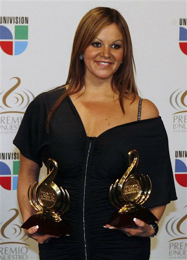 FILE -- In this Thursday March 26, 2009 file photo Mexican singer Jenni Rivera poses backstage during the Premio Lo Nuestro Latin music awards in Coral Gables, Fla. &#40;AP Photo&#47;Wilfredo Lee&#41; <span class=meta>(AP Photo&#47; WILFREDO LEE)</span>