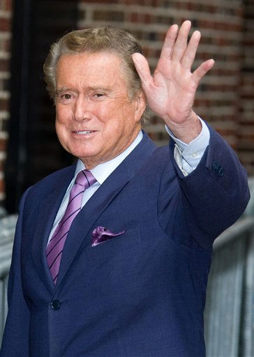 "<div class=""meta image-caption""><div class=""origin-logo origin-image ""><span></span></div><span class=""caption-text"">FILE - In this June 11, 2009 file photo, talk show host Regis Philbin arrives for a taping of ""The Late Show with David Letterman"" in New York. (AP Photo/Charles Sykes, file) (AP Photo/ Charles Sykes)</span></div>"