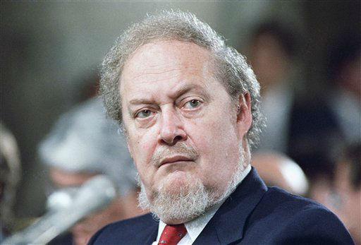 Robert Bork was 85 when died on Wednesday, December 19, 2012.  He served as Solicitor General, acting Attorney General, and judge for the U.S. Court of Appeals for the District of Columbia Circuit.  In 1987, he was nominated to the Supreme Court by President Ronald Reagan, but the Senate rejected his nomination.     Bork is shown in 1987 photo.     &#40;AP Photo&#41; <span class=meta>(AP Photo&#47; R2  RO. PEC)</span>