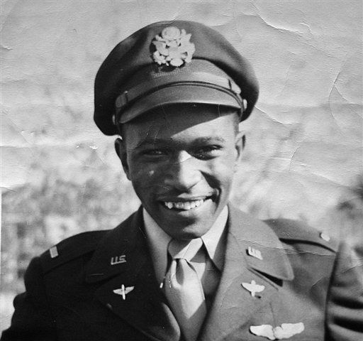 "<div class=""meta image-caption""><div class=""origin-logo origin-image ""><span></span></div><span class=""caption-text"">Stewart Fulbright is seen in an undated photo. Fulbright, a trailblazing black educator who piloted a bomber during World War II as one of the Tuskegee Airmen and was the first dean of the North Carolina Central University School of Business, died in Durham, N.C. on Jan. 1, 2012 after a short illness, according to his son, Edward. He was 92. (AP Photo/Fulbright family via Goldsboro News-Argus )  MANDATORY CREDIT (AP Photo/ Anonymous)</span></div>"