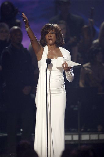 FILE - In this Nov. 22,2009, file photo, Artist Whitney Houston receives the International Artist Award onstage at the 37th Annual American Music Awards in Los Angeles. Publicist Kristen Foster said, Saturday, Feb. 11, 2012, that singer Whitney Houston has died at age 48.  &#40;AP Photo&#47;Matt Sayles, File&#41; <span class=meta>(AP Photo&#47; Matt Sayles)</span>