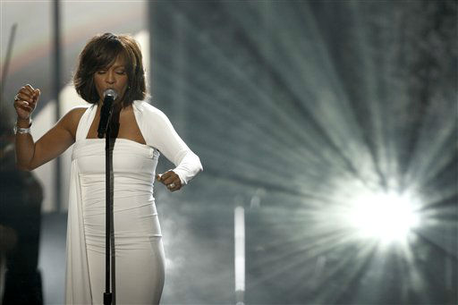 "<div class=""meta ""><span class=""caption-text "">In this Nov. 22, 2009, file photo, Whitney Houston performs at the 37th Annual American Music Awards in Los Angeles. Houston died Saturday, Feb. 11, 2012, she was 48. (AP Photo/Matt Sayles) (AP Photo/ Matt Sayles)</span></div>"