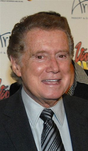 FILE - In A Friday Feb. 19, 2010 file photo provided by the Las Vegas News Bureau, Regis Philbin walks the &#34;Blue Carpet&#34; at the world premiere of Viva Elvis at Aria Resort &amp; Casino in Las Vegas. Philbin said on the Thursday, May 13 &#34;Live! With Regis and Kelly&#34; show that he will have a blood clot in his calf removed next week. The 78-year-old co-host says pain in his leg is making it difficult for him to walk. Philbin had hip replacement surgery last December and triple heart bypass surgery in 2007.&#40;AP Photo&#47;Las Vegas News Bureau, Glenn Pinkerton, File&#41; <span class=meta>(AP Photo&#47; Anonymous)</span>