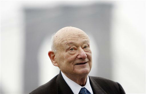 "<div class=""meta ""><span class=""caption-text "">Former New York Mayor Ed Koch speaks during a publicity event for the new King Tut exhibit in New York, Tuesday, March 23, 2010.  The new exhibit, ""Tutankhamun and the Golden Age of the Pharaohs"", will start on April 23, at the Discovery Times Square Exposition.  (AP Photo/Seth Wenig) (AP Photo/ Seth Wenig)</span></div>"