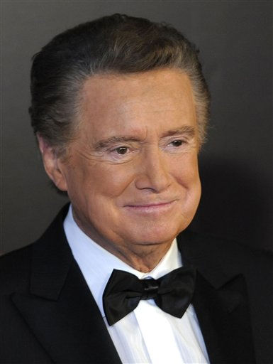"<div class=""meta image-caption""><div class=""origin-logo origin-image ""><span></span></div><span class=""caption-text"">Host Regis Philbin arrives at the 37th Annual Daytime Emmy Awards on Sunday, June 27, 2010, in Las Vegas. (AP Photo/Chris Pizzello) (AP Photo/ Chris Pizzello)</span></div>"