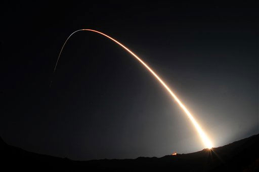 In this Saturday, Sept. 25, 2010 photo released by the U.S. Air Force, a Minotaur 4 rocket carrying the Space Based Space Surveillance satellite blasts off and heads toward orbit at 9:41 p.m., at Vandenberg Air Force Base, Calif.  The satellite is designed to detect and monitor debris, satellites and other space objects that could be a threat to national security, communications and weather satellites.  <span class=meta>(AP Photo&#47; Senior Airman Andrew Lee)</span>