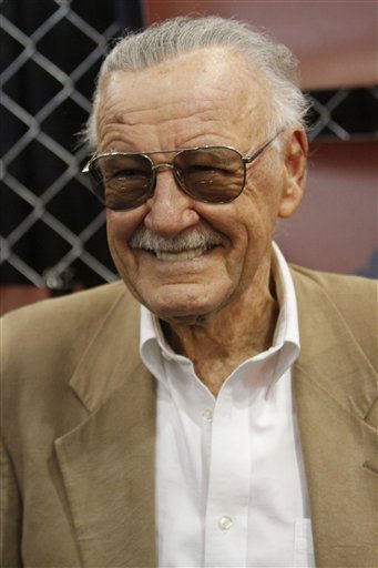 "<div class=""meta ""><span class=""caption-text "">Stan Lee poses for photographers during the unveiling of ""Romeo and Juliet:The War"" during the New York Comic Con at the Jacob Javitz convention center, Friday, Oct. 8, 2010 in New York.  (AP Photo/Mary Altaffer) (AP Photo/ Mary Altaffer)</span></div>"