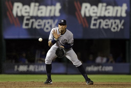 New York Yankees third baseman Alex Rodriguez during Game 6 of baseball&#39;s American League Championship Series against the Texas Rangers Friday, Oct. 22, 2010, in Arlington, Texas. &#40;AP Photo&#47;Chris O&#39;Meara&#41; <span class=meta>(AP Photo&#47; Chris O&#39;Meara)</span>