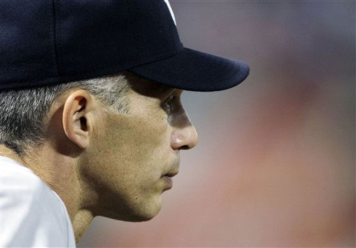 "<div class=""meta image-caption""><div class=""origin-logo origin-image ""><span></span></div><span class=""caption-text"">New York Yankees manager Joe Girardi watches from the dugout in the fifth inning of Game 6 of baseball's American League Championship Series against the Texas Rangers Friday, Oct. 22, 2010, in Arlington, Texas. (AP Photo/Tony Gutierrez) (AP Photo/ Tony Gutierrez)</span></div>"