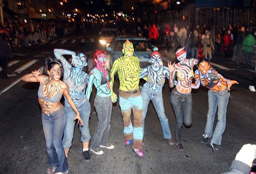 "<div class=""meta ""><span class=""caption-text "">Revelers march in the New York City Halloween Parade on Sunday, October 31, 2010 in New York City.  (AP Photo/Gregory Payan)</span></div>"