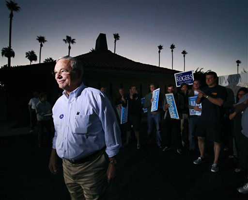 U.S. Rep. Harry Mitchell, D-Ariz., leaves his polling station early Tuesday, Nov. 2, 2010 in Tempe, Ariz. after casting his ballot. &#40;AP Photo&#47;Matt York&#41; <span class=meta>(AP Photo&#47; Matt York)</span>