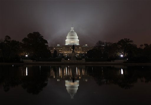 "<div class=""meta ""><span class=""caption-text "">Fog envelopes Capitol Hill in Washington,  at dawn Monday, Nov. 15, 2010, as Congress begins its lame duck session following a long break for the midterm elections,. (AP Photo/J. Scott Applewhite) (AP Photo/ J. Scott Applewhite)</span></div>"