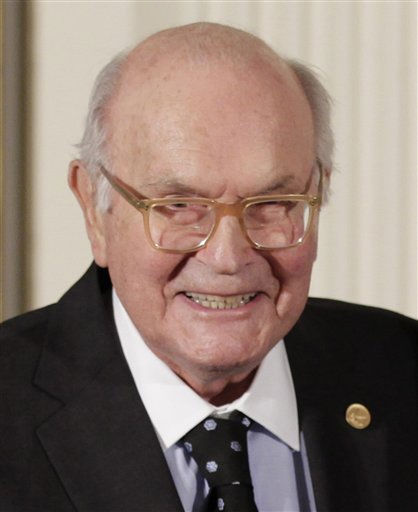 "<div class=""meta ""><span class=""caption-text "">FILE - In this Nov. 17, 2010 file photo, Harry W. Coover, who invented cyanoacrylate glue, commonly known as Super Glue, for Eastman Chemical Co., is shown at a ceremony for recipients of the National Medal of Science and the National Medal of Technology and Innovation, the highest honors bestowed by the United States government on scientists, engineers, and inventors, at the White House in Washington. Coover died at his home in Kingsport, Tenn. on Saturday, March 26, 2011. He was 94. (AP Photo/J. Scott Applewhite, File) (AP Photo/ J. Scott Applewhite)</span></div>"