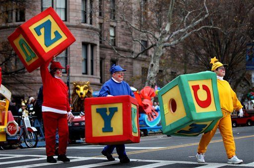 "<div class=""meta ""><span class=""caption-text "">Participants walk to their places before the start of the Macy's Thanksgiving Day Parade Thursday, Nov. 25, 2010.  (AP Photo/Craig Ruttle) (AP Photo/ Craig Ruttle)</span></div>"
