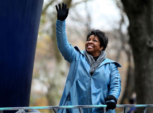 "<div class=""meta ""><span class=""caption-text "">Gladys Knight waves to the crowd during the Macy's Thanksgiving Day Parade in New York on Thursday, Nov. 25, 2010. (AP Photo/Craig Ruttle) (AP Photo/ Craig Ruttle)</span></div>"