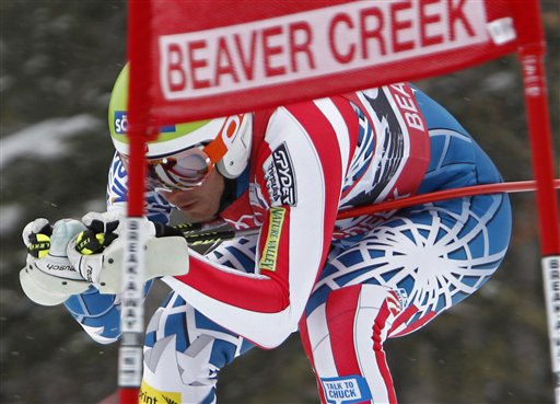 "<div class=""meta ""><span class=""caption-text "">U.S. ski racer Bode Miller of Easton, NH., races past a gate during training for the men's World Cup downhill ski race in Beaver Creek, Colo., on Wednesday, Dec. 1, 2010. The downhill is scheduled for Friday.  (AP Photo/Nathan Bilow) (AP Photo/ Nathan Bilow)</span></div>"