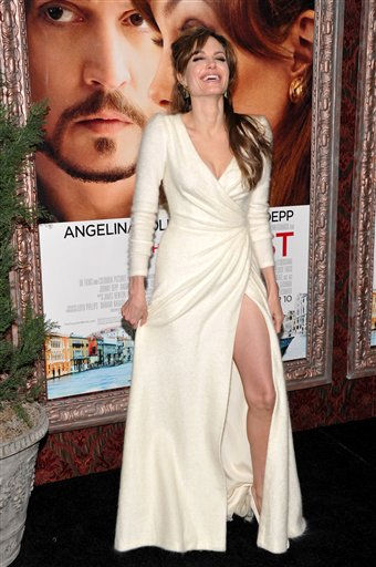 Actress Angelina Jolie attends the world premiere of &#34;The Tourist&#34; at the Ziegfeld Theatre on Monday, Dec. 6, 2010 in New York. &#40;AP Photo&#47;Evan Agostini&#41; <span class=meta>(AP Photo&#47; Evan Agostini)</span>