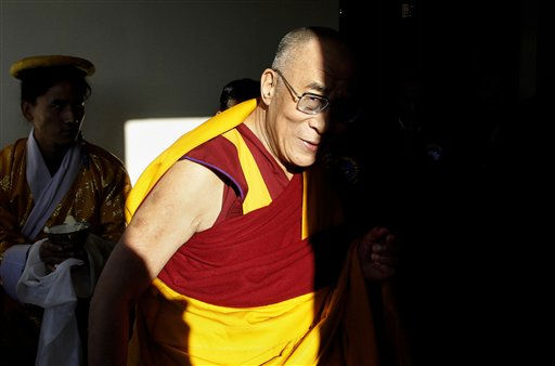 "<div class=""meta ""><span class=""caption-text "">Tibetan Spiritual leader the Dalai Lama arrives at the opening of the Shudseb Ogyen Dzong Nyingmapa Monastery, near Dharamsala, India, Tuesday, Dec. 7, 2010.  Last month an aide said the Dalai Lama wished to give up his ceremonial duties as head of the Tibetan state-in-exile. The Dalai Lama effectively serves two roles: He is both the spiritual leader of Tibetan Buddhists and a ceremonial leader of their government, which operates in exile since Chinese troops marched into their Himalayan homeland in the 1950s.(AP Photo/Ashwini Bhatia) (AP Photo/ Ashwini Bhatia)</span></div>"