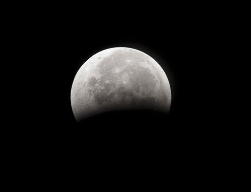 The moon continues to emerge from a total eclipse at 4:39 a.m. EST near Archer,Fla., Tuesday, Dec. 21, 2010,  &#40;AP Photo&#47;Phil Sandlin&#41; <span class=meta>(AP Photo&#47; Phil Sandlin)</span>