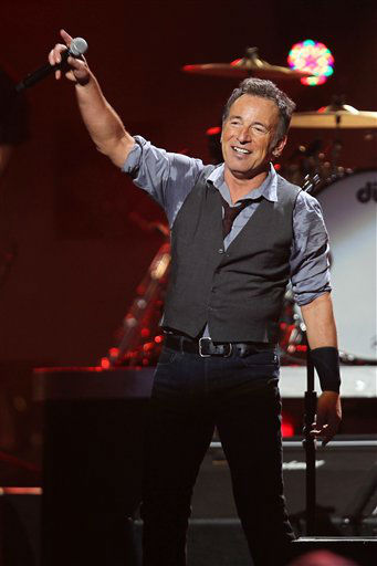 This image released by Starpix shows Bruce Springsteen performing at the 12-12-12 The Concert for Sandy Relief at Madison Square Garden in New York on Wednesday, Dec. 12, 2012. &#40;AP Photo&#47;Starpix, Dave Allocca&#41; <span class=meta>(AP Photo&#47; Dave Allocca)</span>
