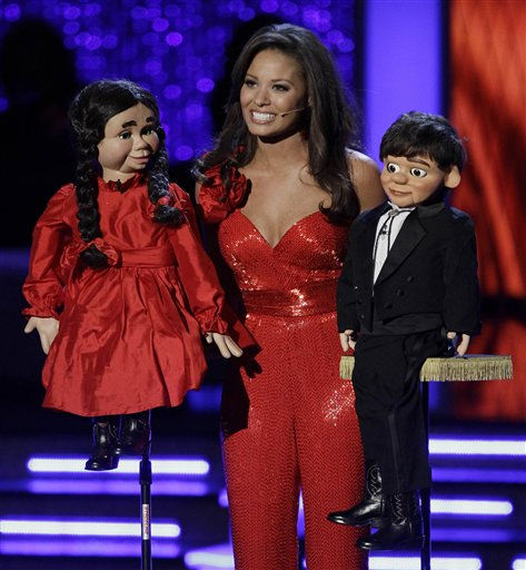 Alyse Eady, Miss Arkansas, performs a ventriloquist act in the talent competition during the Miss America pageant, Saturday, Jan. 15, 2011 in Las Vegas. &#40;AP Photo&#47;Julie Jacobson&#41; <span class=meta>(AP Photo&#47; Julie Jacobson)</span>