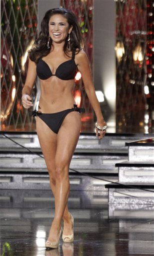 Miss Texas, Ashley Melnick, walks on stage during the swim suit competition during the Miss America pageant, Saturday, Jan. 15, 2011 in Las Vegas. &#40;AP Photo&#47;Julie Jacobson&#41; <span class=meta>(AP Photo&#47; Julie Jacobson)</span>