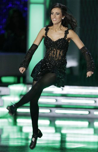 "<div class=""meta ""><span class=""caption-text "">Miss Virginia, Caitlin Uze, dances in the talent competition during the Miss America pageant, Saturday, Jan. 15, 2011 in Las Vegas. (AP Photo/Julie Jacobson) (AP Photo/ Julie Jacobson)</span></div>"