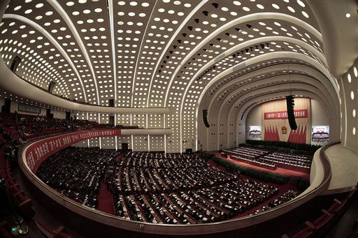 The opening session of the 4th Plenary Session of the 13th Shanghai Municipal People&#39;s Congress is seen on Sunday, Jan. 16, 2011 in Shanghai, China. &#40;AP Photo&#47;Eugene Hoshiko&#41; <span class=meta>(AP Photo&#47; Eugene Hoshiko)</span>