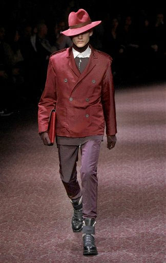 "<div class=""meta image-caption""><div class=""origin-logo origin-image ""><span></span></div><span class=""caption-text"">A model wears a creation by Moroccan-born Israeli designer Alber Elbaz for French fashion house Lanvin Men's fall-winter 2011/2012 collection presented in Paris, Sunday, Jan. 23, 2011 (AP Photo/Jacques Brinon) (AP Photo/ Jacques Brinon)</span></div>"
