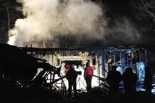 "<div class=""meta ""><span class=""caption-text "">Smoke rises from the building after  fire raced through an orphanage for disabled children in Haapsalu, western Estonia on Sunday Feb. 20, 2011,   killing 10 of them, a rescue service spokesman said. There were 37 children and nine adults inside the wooden building when the fire started at 2:30 p.m. (1230GMT) in the coastal town of Haapsalu, said a spokesperson for the Western Estonia Rescue Services Centre.   (AP Photo/Timur Nisametdinov, NIPA) (AP Photo/ Timur Nisametdinov)</span></div>"