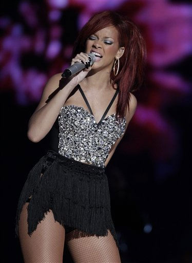 "<div class=""meta ""><span class=""caption-text "">FILE - In this Feb. 20, 2011 file photo, singer Rihanna performs during the halftime show at the NBA basketball All-Star Game in Los Angeles. (AP Photo/Jae C. Hong, file) (AP Photo/ Jae C. Hong)</span></div>"