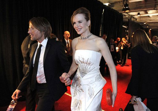 Keith Urban, left, and Nicole Kidman are seen backstage at the 83rd Academy Awards on Sunday, Feb. 27, 2011, in the Hollywood section of Los Angeles. &#40;AP Photo&#47;Chris Carlson&#41; <span class=meta>(AP Photo&#47; Chris Carlson)</span>