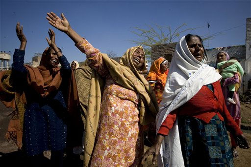 Pakistani Christian women mourn over the death of their leader Shahbaz Bhatti, during a rally in his native town Khushpur near Faisalabad, Pakistan, on Friday, March 4, 2011. Bhatti, 42, was gunned down in the Pakistani capital Islamabad, after receiving death threats because he had urged Pakistan to reform its harsh laws that impose the death penalty for insulting Islam. &#40;AP Photo&#47;Anjum Naveed&#41; <span class=meta>(AP Photo&#47; Anjum Naveed)</span>