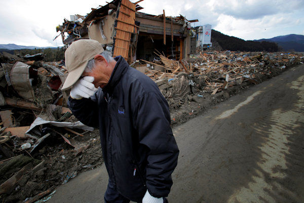 "<div class=""meta image-caption""><div class=""origin-logo origin-image ""><span></span></div><span class=""caption-text"">Katsuo Maiya, 73, cries in front of the rubble where his sister-in-law's house stood in Rikuzentakata, Iwate Prefecture, northern Japan, Thursday, March 17, 2011. Maiya's sister-in-law and her husband were killed in Friday's earthquake and tsunami. (AP Photo/Itsuo Inouye)</span></div>"