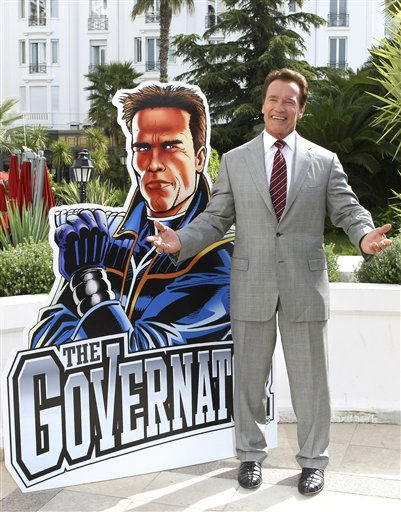 Austrian-American, actor and former California Governor Arnold Schwarzenegger, poses for photographers during the MIPTV &#40;International Television Programme Market&#41;, Monday, April 4, 2011, in Cannes, southern France. Arnold Schwarzenegger is back in Cannes for the first time in eight years to unveil a new international television series &#34;The Governator&#34;. &#40;AP Photo&#47;Lionel Cironneau&#41; <span class=meta>(AP Photo&#47; LIONEL CIRONNEAU)</span>