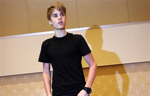 Teenage pop star Justin Bieber gives a press conference before his concert as part of his &#34;My World&#34; tour on Tuesday April. 19, 2011 in Singapore.&#40;AP Photo&#47;Wong Maye-E&#41; <span class=meta>(AP Photo&#47; Wong Maye-E)</span>