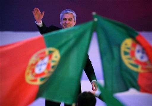 "<div class=""meta ""><span class=""caption-text "">Portugal's Prime-Minister and Socialist Party leader Jose Socrates attends the closing ceremony of the party's national congress in Matosinhos, on the outskirts of Porto, Portugal, Sunday, April 10, 2011. Socrates resigned late last month after opposition parties rejected unpopular spending cuts and tax increases that the government said were necessary to get the country's struggling economy back on track.  On Friday, EU finance ministers agreed to grant financial help to Portugal once the debt-ridden country has signed on to a radical overhaul of its economy. (AP Photo/Paulo Duarte) (AP Photo/ Paulo Duarte)</span></div>"