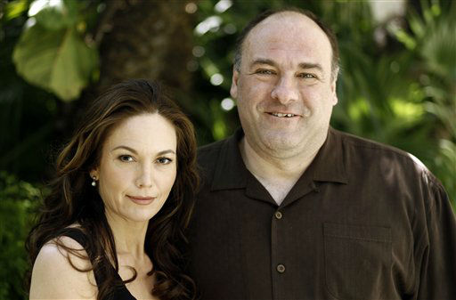 "<div class=""meta image-caption""><div class=""origin-logo origin-image ""><span></span></div><span class=""caption-text"">James Gandolfini, right, and Diane Lane, from the film ""Cinema Verite"", pose for a portrait in Beverly Hills, Calif. on Monday, April 11, 2011.   ""Cinema Verite"" debuts April 23 on HBO. (AP Photo/Matt Sayles) (AP Photo/ Matt Sayles)</span></div>"
